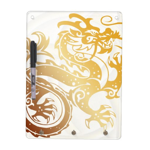 Gold Dragon with Celtic Knot - 2 - Message Board Dry Erase Board