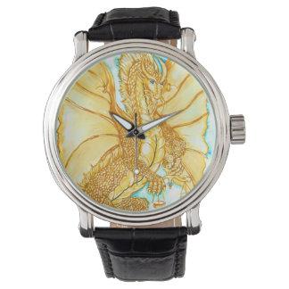 Gold Dragon Wrist Watch