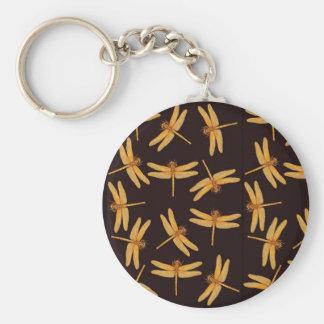 Gold Dragonflies Keychain
