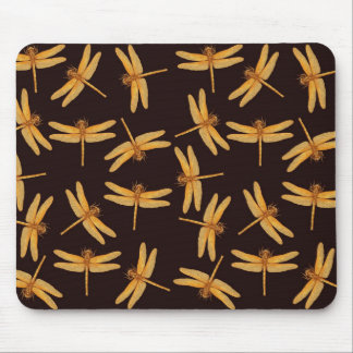 Gold Dragonflies Mousepad