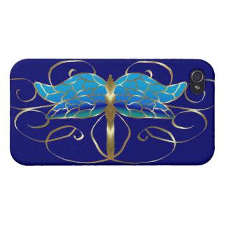 Gold Dragonfly Tiara iPhone 4 Case