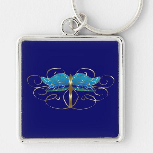 Gold Dragonfly Tiara Keychain