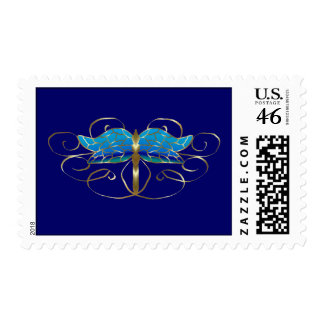 Gold Dragonfly Tiara Postage Stamp