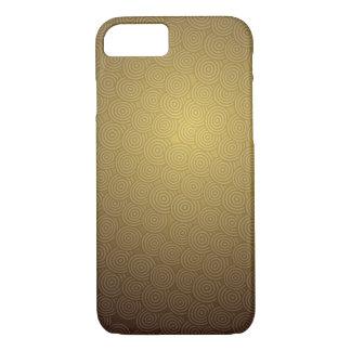 gold drawn circle interesting pattern design iPhone 8/7 case