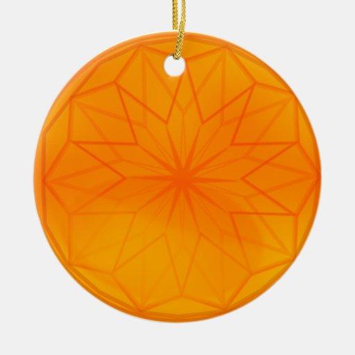 Gold dreamweaver globe Double-Sided ceramic round christmas ornament