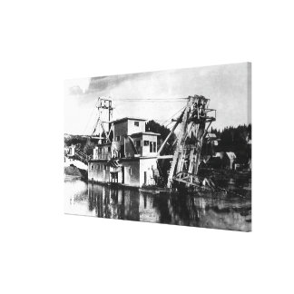 Gold Dredging SceneIdaho City, ID Canvas Print