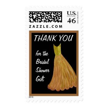 GOLD DressThank You Bridal Shower Gift zazzle_stamp