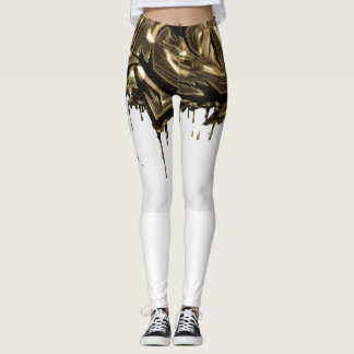 gold droplet leggings