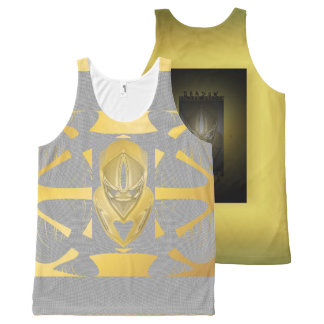 GOLD DUCK SCREEN All-Over Printed Unisex Tank, XL All-Over-Print Tank Top