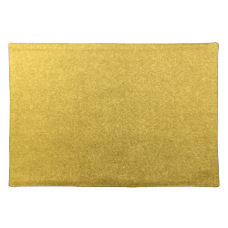 GOLD DUST (a precious metal color) ~ Cloth Placemat