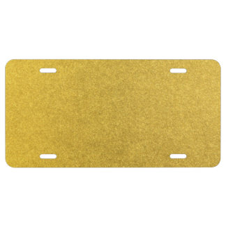 GOLD DUST (a precious metal color) ~ License Plate