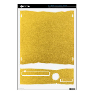 GOLD DUST (a precious metal color) ~ Xbox 360 S Console Skin