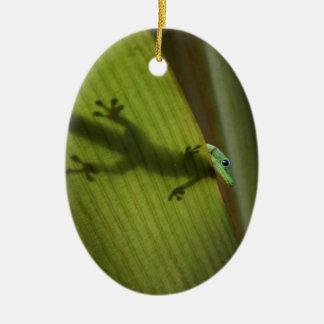 Gold Dust Day Gecko Ceramic Ornament