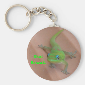 Gold Dust Day Gecko Keychain
