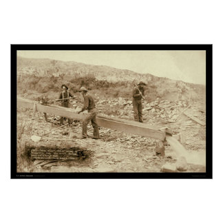 Gold Dust Mining Rockerville SD 1889 Poster