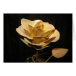 GOLD DUST ROSE GREETING CARD