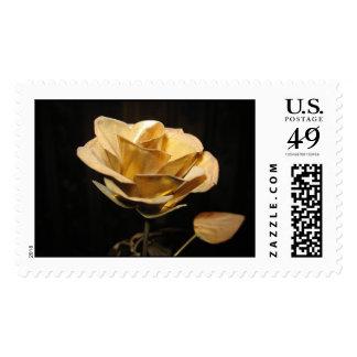 """Gold Dust Rose"" Postage Stamp"