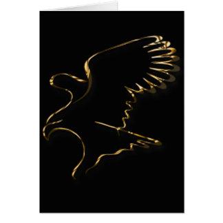 Gold Eagle Card