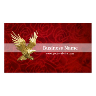 Gold Eagle in Velvet Red Double-Sided Standard Business Cards (Pack Of 100)