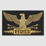 Gold Eagle of Roman Republic Rectangular Sticker