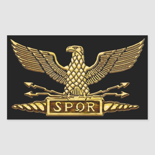Gold Eagle of Roman Republic Rectangle Stickers