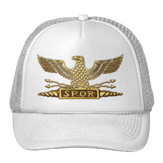 Gold Eagle Roman Legion Trucker Hats