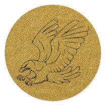 Gold Eagle Sticker