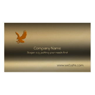 Gold Eagle, Talons outstretched Metallic-effect Business Card