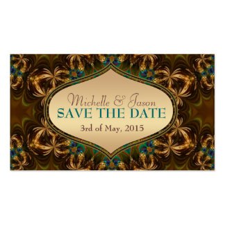 Gold Earth Bohemian Save the Date Mini Cards Double-Sided Standard Business Cards (Pack Of 100)