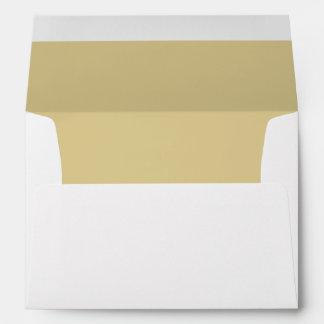 Gold Ecru Medium Invitation Envelope