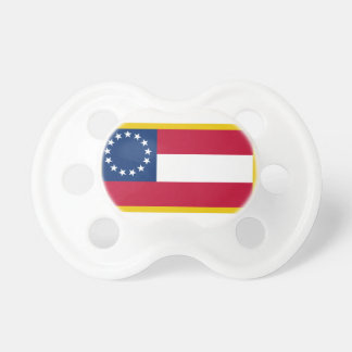 Gold Edge 1st Confederate Flag Pacifier