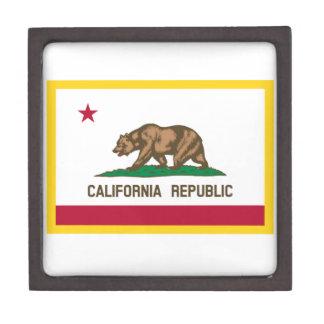 Gold Edge California Flag Gift Box