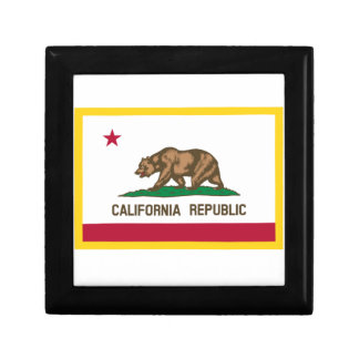 Gold Edge California Flag Jewelry Box