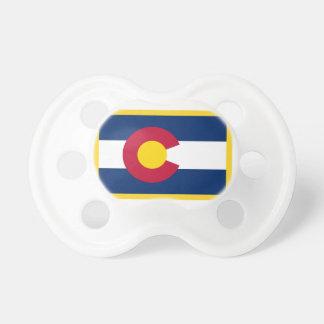 Gold Edge Colorado Flag Pacifier