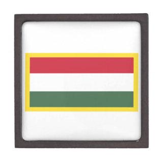 Gold Edge Hungary Flag Jewelry Box