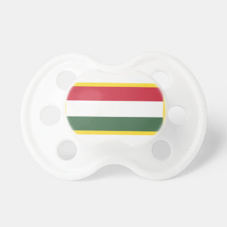 Gold Edge Hungary Flag Pacifier
