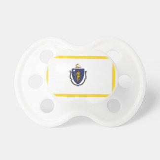 Gold Edge Massachusetts Flag Pacifier