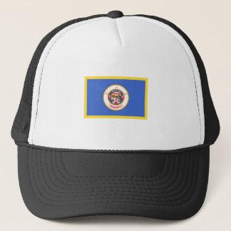 Gold Edge Minnesota Flag Trucker Hat
