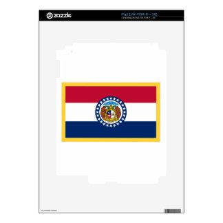 Gold Edge Missouri Flag Skins For The iPad 2