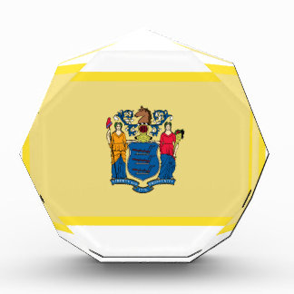 Gold Edge New Jersey Flag Acrylic Award