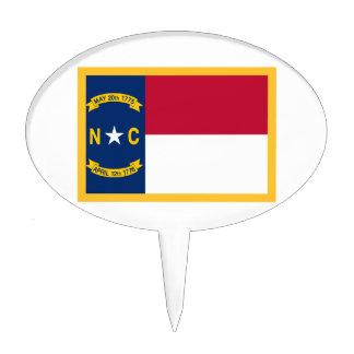 Gold Edge North Carolina Flag Cake Topper