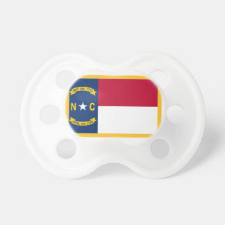 Gold Edge North Carolina Flag Pacifier