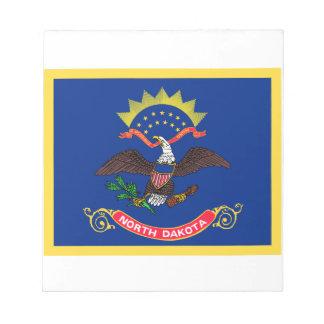 Gold Edge North Dakota Flag Note Pad