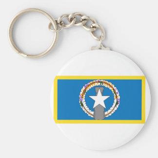 Gold Edge Northern Marianas Flag Basic Round Button Keychain