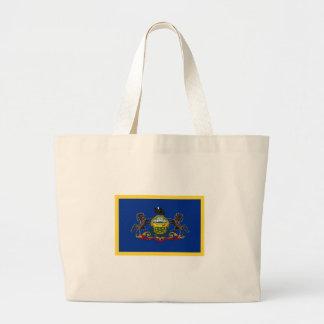 Gold Edge Pennsylvania Flag Large Tote Bag