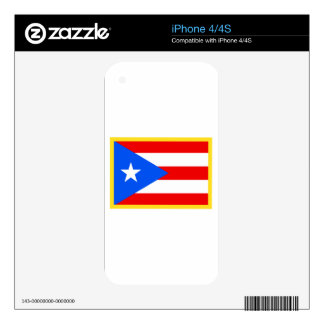 Gold Edge Puerto Rico Flag Decals For The iPhone 4
