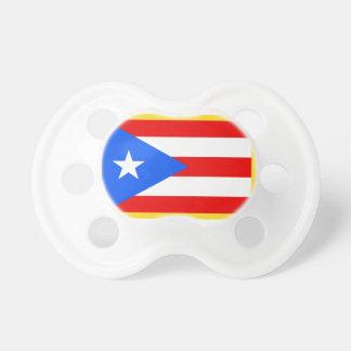 Gold Edge Puerto Rico Flag Pacifier