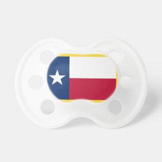 Gold Edge Texas Flag Pacifier