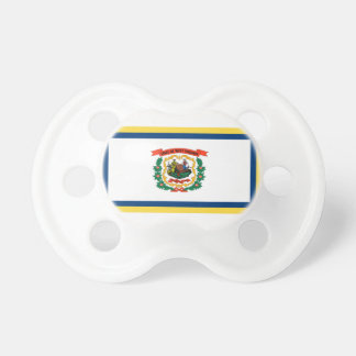 Gold Edge West Virginia Flag Pacifier