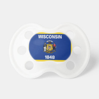 Gold Edge Wisconsin Flag Pacifier